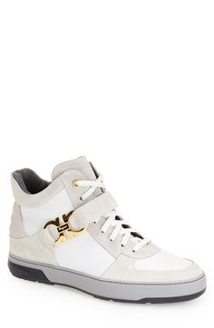 Salvatore Ferragamo 'Nayon' High Top Sneaker (Men) available at #Nordstrom