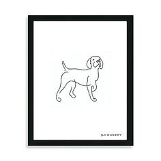 Pointer Framed Line Drawing | JUNI!! Aww I love this