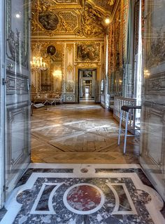The Queen's Apartments, Versailles beautiful place but be prepared it's packed. The gardens are a must