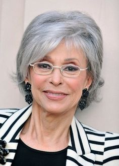 short hairstyles for gray hair and glasses