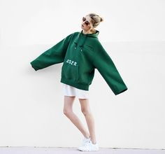 Get this look: http://lb.nu/look/8559977 More looks by Ebba Zingmark: http://lb.nu/ebbaz Items in this look: Ader Error Hoodie, Nike Sneakers, Dress, Zero Uv Sunnies #casual #sporty #street