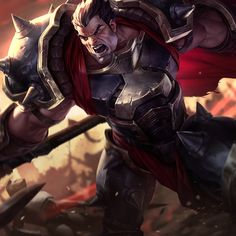 League of Legends item Classic Darius at MOBAFire. League of Legends Premiere Strategy Build Guides and Tools. Lol League Of Legends, League Of Legends Personajes, League Of Legends Characters, Fictional Characters, Starcraft, Paladin, Assassin, Splash Art, Champions League Of Legends