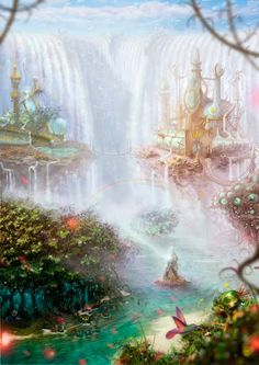 This is what Alice will see when she takes her first steps into Wonderland. She will see this beautiful place that can't be compared to any other. She will eventually experience events that become very odd to her.