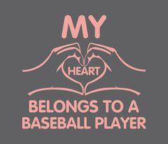 Tshirts For Women Shirt For Girls Ladies Tops Baseball Love Heart Shirts Girls Sports Fan Game Day Softball Ball. $12.50, via Etsy.