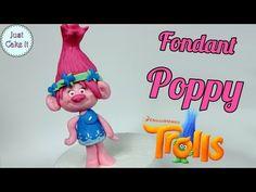 How to make fondant Poppy cake topper tutorial (Trolls) - YouTube