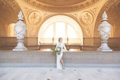A City Hall Wedding We Can't Stop Looking At #refinery29  http://www.refinery29.com/san-francisco-city-hall-wedding#slide-6  Jaymie's understated dress is the perfect balance of sexy and elegant.