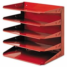 Steelmaster Soho Horizontal Organizer, Letter, Five Tier, Steel, Red (MMF26425L007)