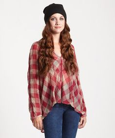 Look at this #zulilyfind! Raspberry Too Hot to Handle Top by Free People #zulilyfinds