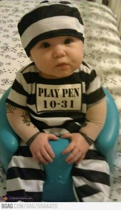 #funny #baby #Halloween costume  Just because mommy is a corrections nurse :)