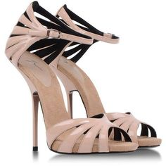 GIUSEPPE ZANOTTI DESIGN Sandals ($318) ❤ liked on Polyvore featuring shoes, sandals, heels, sapatos, scarpe, high heel shoes, high heels sandals, heeled sandals, leather sole shoes and fancy sandal #shoeshighheelsfancy #SexyHighHeels