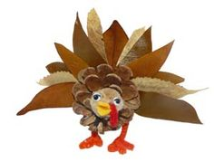 Ohio Department of Natural Resources Party Crafts, Crafts For Kids, Pinecone Turkey, Painted Pumpkins, Natural Resources, Oil And Gas, Give Thanks, Pine Cones, Halloween Pumpkins