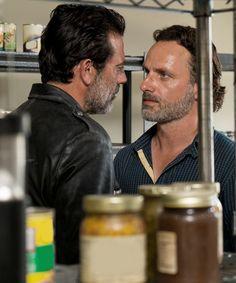 Negan and Rick Grimes in The Walking Dead Season 7 Episode 4   Service