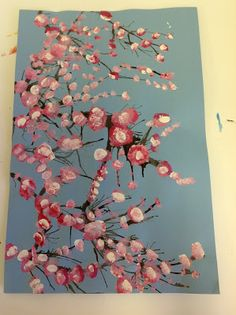 """Cherry Blossom Trees via """"Color It Like You Mean It""""... my go-to blog for helping kids paint & create amazing artwork"""