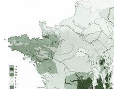 1970 Carte Géologique de la France hercynienne et les Pyrénées Géomorphologie de la boutique sofrenchvintage sur Etsy