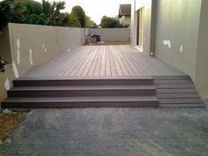 WPC synthetic decking stairs and ramp