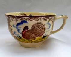 Vintage MARUTA WARE Turkey Thanksgiving Cup/Tea by Dreambrulee