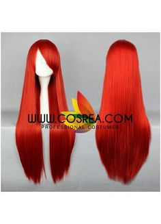 Fairy Tail Erza Scarlet Bright Red Cosplay Wig