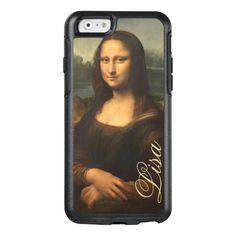 Vintage Mona Lisa Portrait with Monogram OtterBox iPhone 6/6s Case - Sold at Encore_Arts on Zazzle.