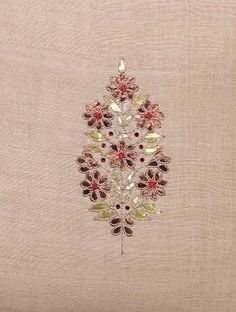 Ivory Matka Silk Cushion Cover with Gota Patti