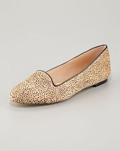 These would be so versatile.  Blaise Printed Calf Hair Loafer by Loeffler Randall at Neiman Marcus.