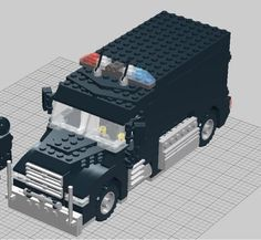 SWAT Truck: A LEGO® creation by Matt O : MOCpages.com