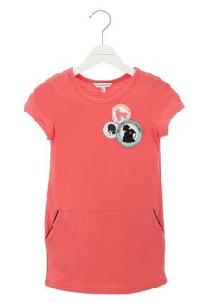 Little Marc Jacobs Patch Dress in Pink