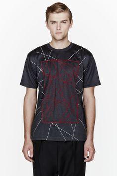 LANVIN Charcoal Vertex print t-shirt