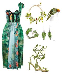 """2017 The Year of Nature"" by amanda-o-twomey ❤ liked on Polyvore featuring Dolce&Gabbana, Alexa Starr, Nicholas Kirkwood, Bernard Delettrez, Rochas, Brooks Brothers and modern"