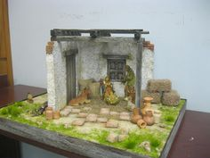 Christmas Nativity, Christmas Crafts, Christmas Decorations, Cabana, Window Well, Portal, Miniatures, Gallery, Crib