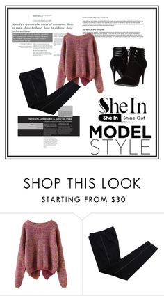 """sheinside"" by crvenamalina ❤ liked on Polyvore featuring mode, COSTUME NATIONAL, C Label et Sheinside"