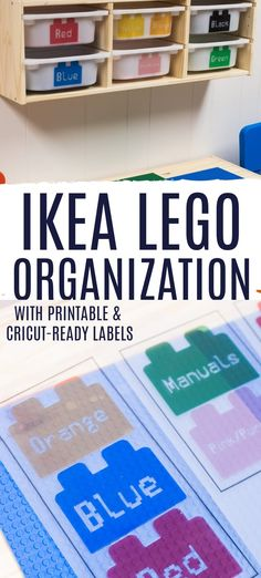 Do you have a LEGO lover in your house? Then you can understand how messy they can get! Here is our DIY IKEA LEGO Table - along with free printable LEGO labels so you can create your own solution in your home. via @clarkscondensed Printable Labels, Free Printable, Organizing Your Home, Organizing Toys, Fun Crafts, Diy And Crafts, Cricut Tutorials, Cricut Ideas, Free Lego