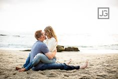 Sexy and Romantic Beach Engagement Photos