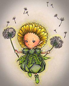 Mitzi Sato-Wiuff's Dandelion Sprite — Sweet Pea Stamps