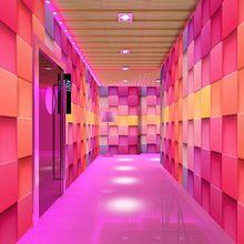 Free Shipping 3D wallpaper pink theme ktv bar checkered Night reflective wallpaper(China (Mainland))