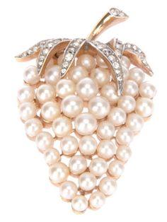 Trifari Strawberry B beauty bling jewelry fashion