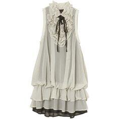 女性らしさが光るレースアップショートブーティ ❤ liked on Polyvore featuring dresses, tops, vestidos and vestiti