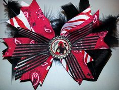 Cowgirl Cutie Bowtique Bow by HodgePodgeBowtique on Etsy, $13.00