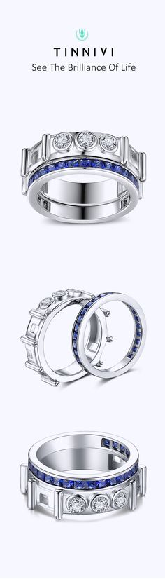 Shop ❤️Princess Cut Sapphire 925 Sterling Silver Women's Wedding Bands❤️online️, Tinnivi creates quality fine jewelry at gorgeous prices. Shop now! Womens Wedding Bands, Wedding Bride, Wedding Anniversary Rings, Wedding Rings, Jewelry Gifts, Fine Jewelry, Cheap Engagement Rings, Princess Cut, Gifts For Him