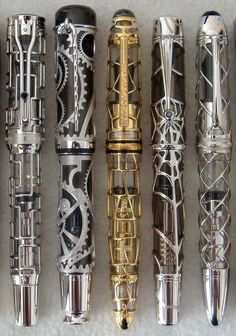 Two of my favorite things!!! Fountain pens that look like sonic screwdrivers