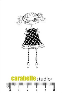 Carabelle Studio Cling Stamp Small - Les Toupettes : Sophie - PreOrder