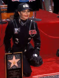 Singer Janet Jackson receives a Hollywood Walk of Fame Star on April 20 1990 at 1500 Vine Street in Hollywood California Hollywood Star, Hollywood California, Hollywood Walk Of Fame, Women In Music, Jackson Family, Janet Jackson, One Star, Black Star, Female Singers
