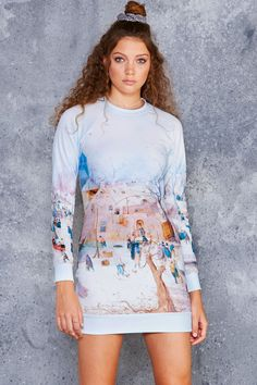 Winterscape Sweater Dress - LIMITED ($120AUD) by BlackMilk Clothing