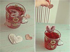 Maman Taupe: DIY sachet de thé en coeur