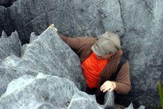 Almost getting stuck. Harwood Hole, Takaka, New Zealand