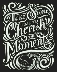 The texture of the chalk in this lettering piece is interesting. It reminds me of paint. // Hand Lettering by Thomas Pena Chalkboard Lettering, Chalkboard Designs, Chalkboard Sayings, Creative Lettering, Lettering Design, Wall Clock Canvas, Pretty Handwriting, Typography Letters, Chalk Typography