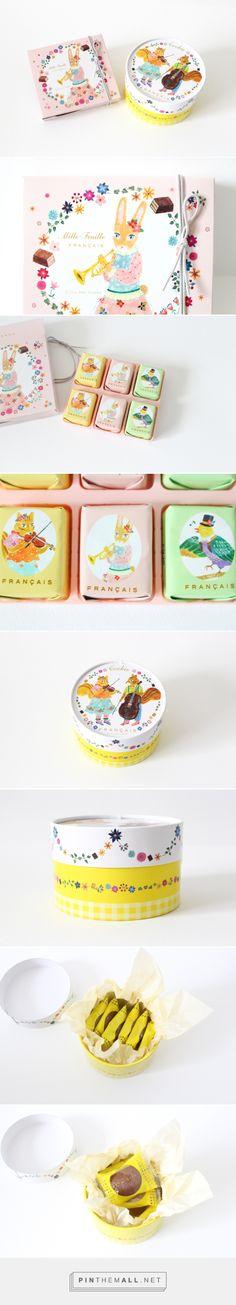 """布川愛子さんが描くイラストがかわいい*横濱フランセのホワイトデー限定パッケージ  via kawacolle """"かわいいもの"""" のコレクションサイト  curated by Packaging Diva PD. More sweet cookies : )"""