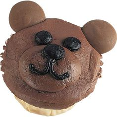 No time for hibernating! This lovable Bear Hug for One cupcake will be busy entertaining kids and adults alike. It?s so easy to create with Candy Melts® for ears and Wilton Chocolate Ready-To-Decorate Icing.