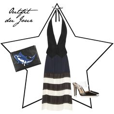 Outfit du Jour: Navy, Black and White with a new Kenzo Clutch