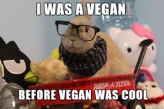 i was a vegan before vegan was cool