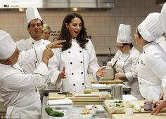 Kate had fun in the kitchen during a cooking workshop at the Institut de tourisme et d'hot...